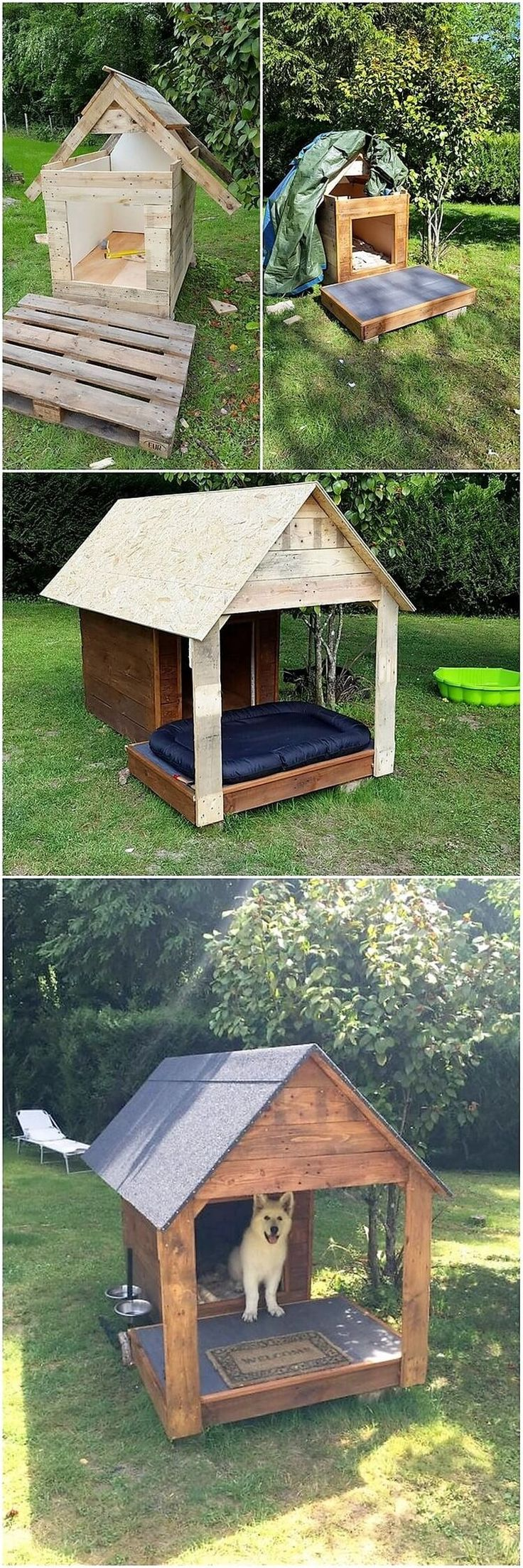 This wood pallet design is all shared with the perception of giving it the impact of pet house designing framework that is looking so much durable and sturdy. This pet house designing is simple and much artistic designed looking that would be a perfect option for your house outdoor areas sections.