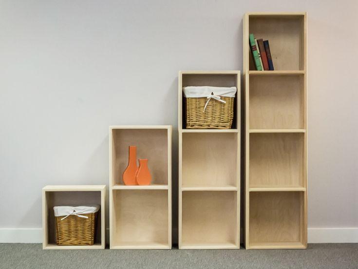 Pine Storage Cubes Cube, Stacking Furniture Cubes