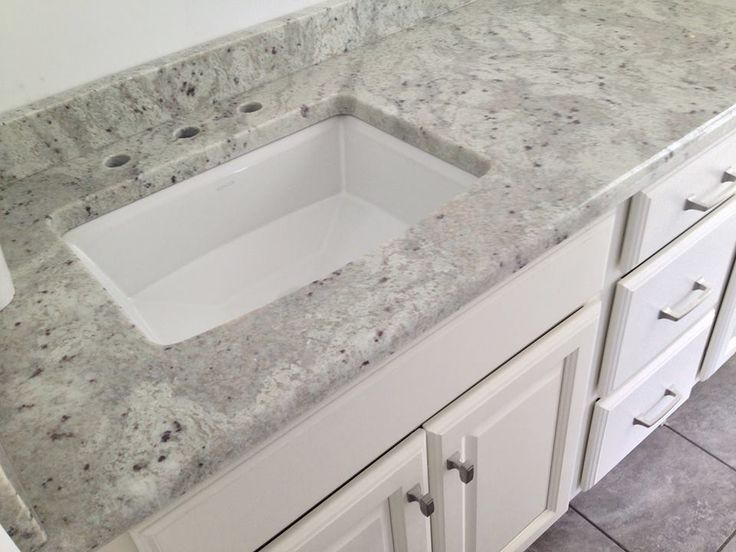 Quot Andromeda White Quot Granite Vanity Top On A Medallion