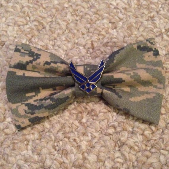 Air Force Bow with Specialty Air Force Pin