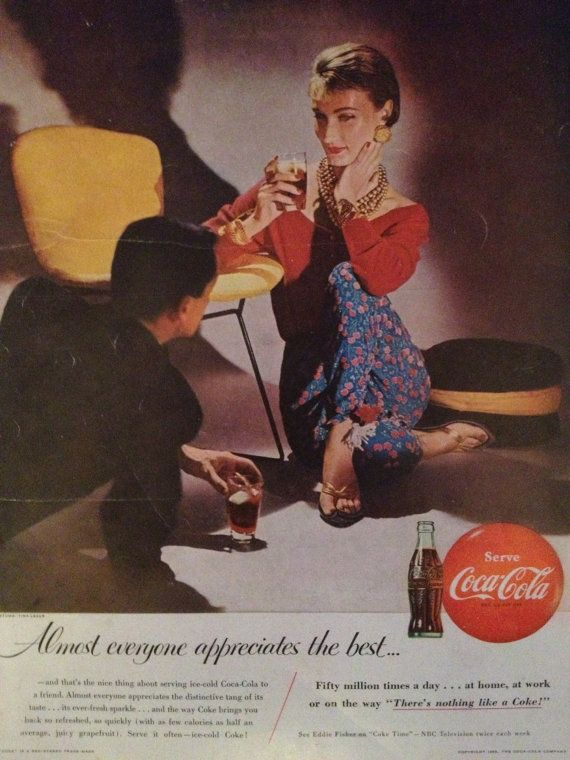 Vintage 1955 Coca-Cola Ad Paper Ephemera from by TheVintageEmpress