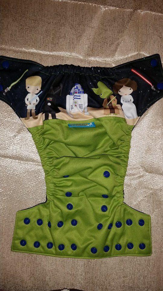 This is my Star Wars Exclusive Wrap Around EBB (Ella Bella Bum) Pocket Cloth Diaper.
