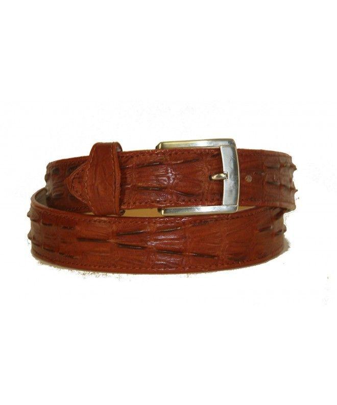 Belt Crocodile Alligator Head Cut Design Embossed Leather Cowboy Western Black