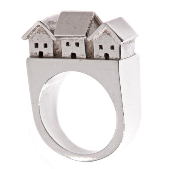 Neighborhood Ring by JDavisStudio. $220.00 Sterling silver