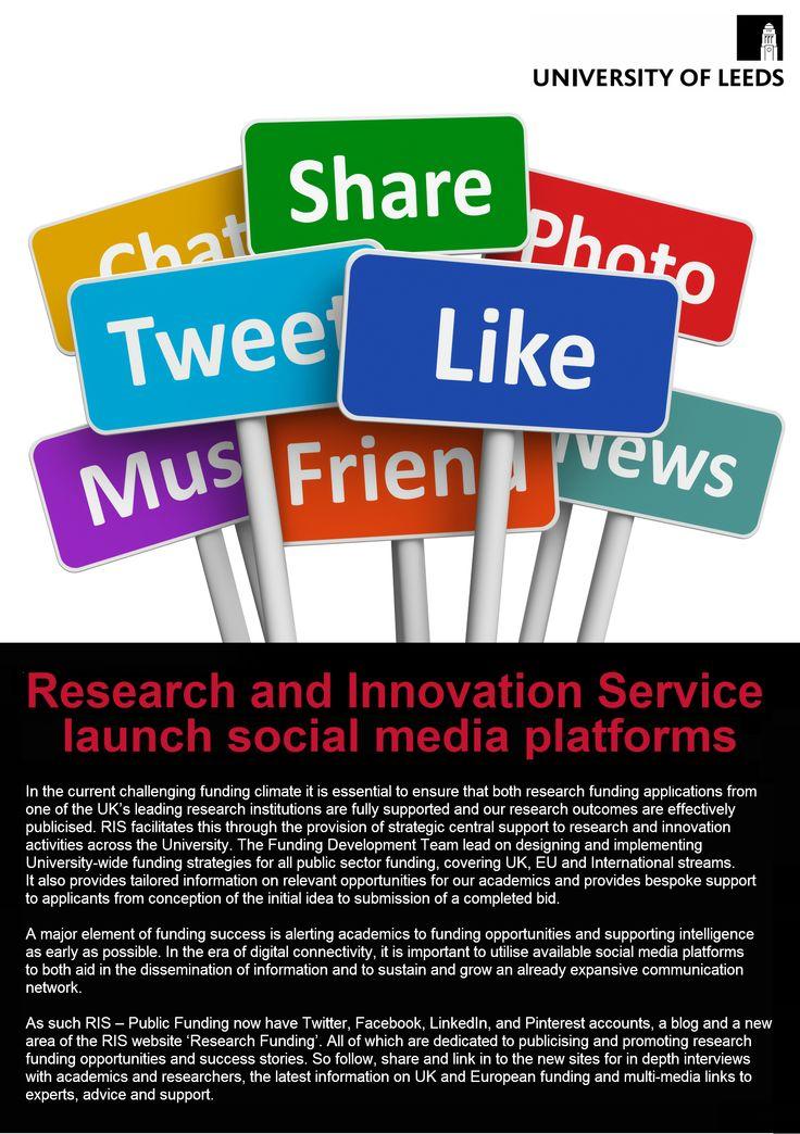 Promotional Flyer for RIS Public Funding Social Media sites