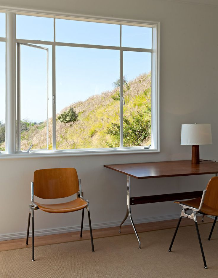 Moby's Castle in the Hollywood Hills: Offices Desks, Spaces, Inspiration, Interiors Nice, Nice View, Interiors Workspace, Simple Offices, Rooms, Windows View