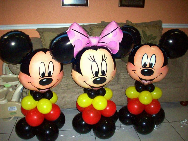 180 best balloons minnie mickey images on pinterest for Balloon decoration minnie mouse