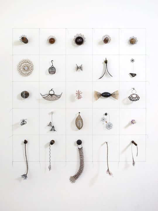 Index, Autobiography, 2015 Crocheted metal, fabricated steel, found objects, patina, pigment, resin, nails, thread
