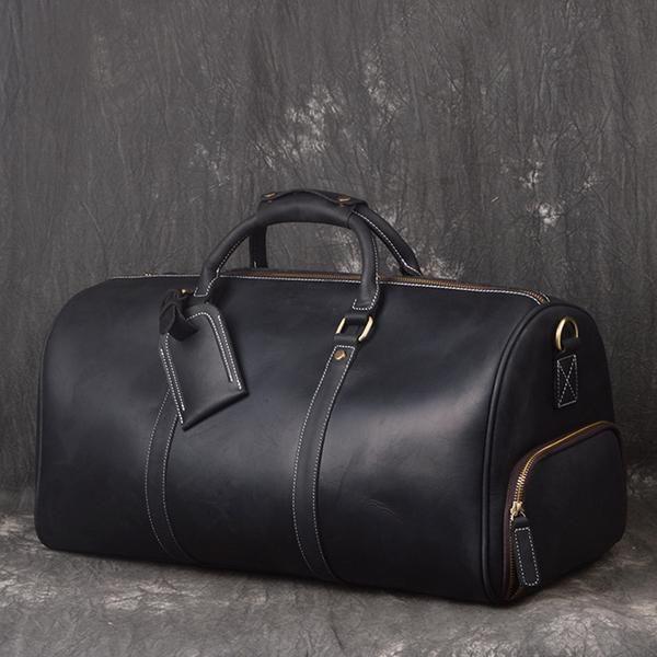 4846d4868b Vintage Full Grain Leather Travel Bag