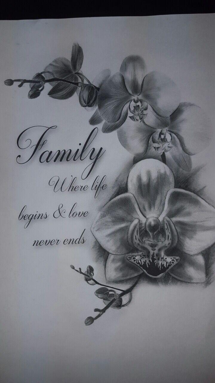 Ich liebe dich und unsere Familie immer