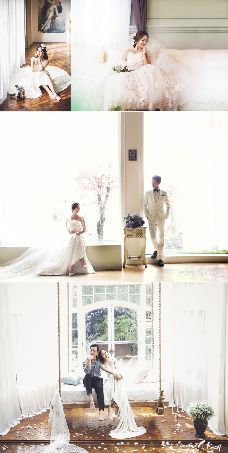Dreamy korean wedding photography concepts