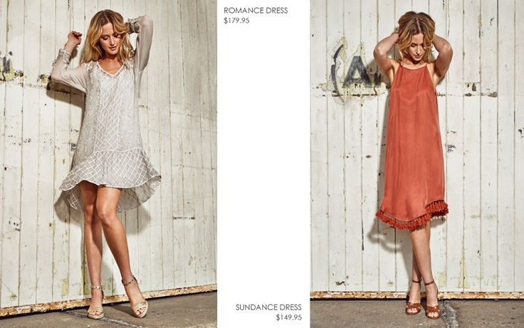 ROMANCE EMBROIDERED DRESS AND SUNDANCE DRESS WITH TASSELS