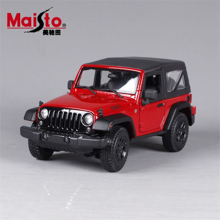 MAISTO Car Model 1:18 Jeep Wranger Simulation Alloy Model Cars Toys With Openable Doors Home Decoration Accessories