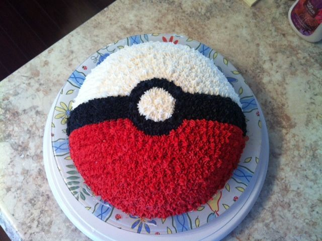 Pokemon cake! With this cake, you'll be able to catch 'em all!