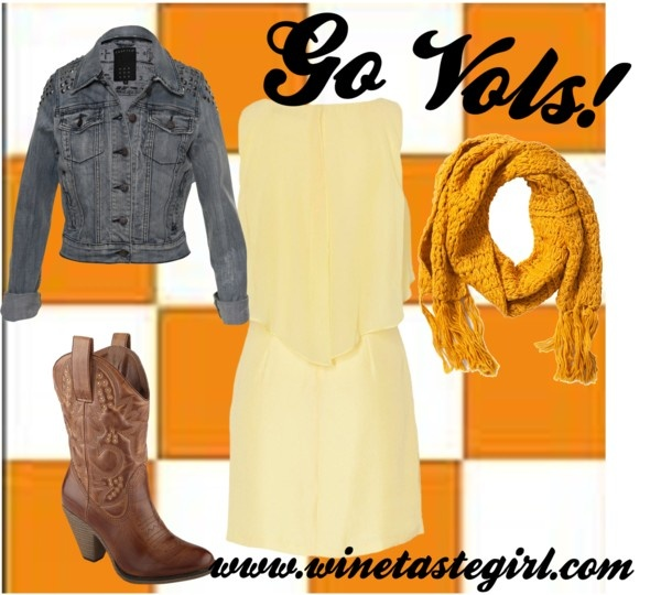 """""""University of Tennessee Game Day Attire"""" by winetastegirl on Polyvore"""