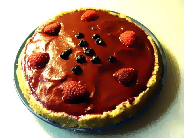 MRAZENÁ OVOCNÁ TORTA (mandle / iné orechy, ďatle, ovocie - maliny, čučoriedky; avokádo, pomaranč...)