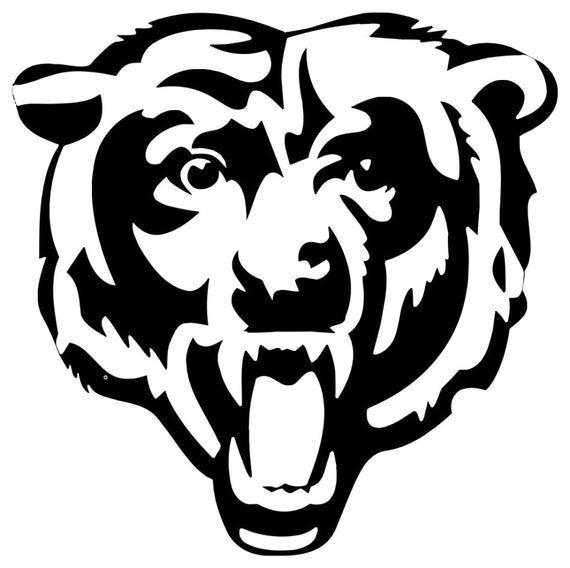 Chicago Bears Logo Decal Etsy Chicago Bears Logo Chicago Bears Chicago Bears Football