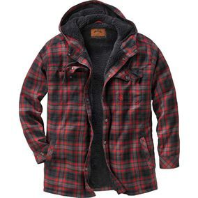 Men's Camp Night Berber Lined Hooded Flannel | Legendary Whitetails