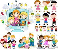ผลการค้นหารูปภาพสำหรับ cartoon children vector free download