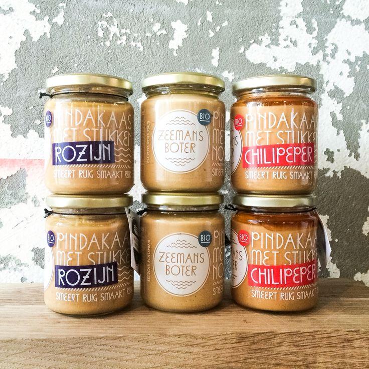 Nieuw!!! De lekkerste pindakaas van Nederland nu ook met rozijn en met chilipepper! Zeemansboter Pindakaas specials in de schappen Onder de Leidingstraat!  #zeemansboter