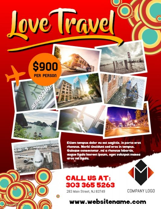 templates free design travel agency flyer