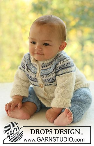 "b16-10 Jacket with raglan sleeves in pattern and pants in ""Alpaca"" by DROPS design"
