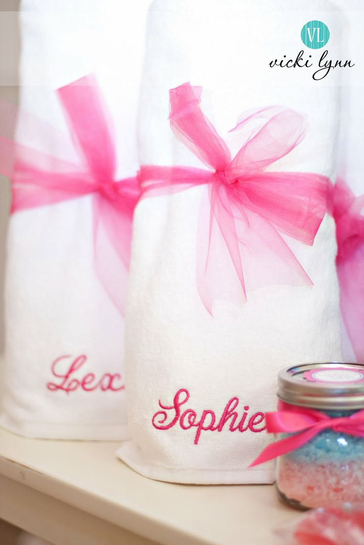 embroidered spa towels: Party'S, Real Parties, Spa Birthday Parties, Spas, Spa Party, Fabulous Spa, Party Ideas, Birthday Party