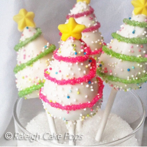 Our whimsical Christmas trees! On sale through tomorrow... www.raleighcakepops.com #blackfriday #deals - @raleighcakepops- #webstagram