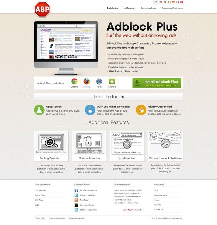 Website for Adblock Plus