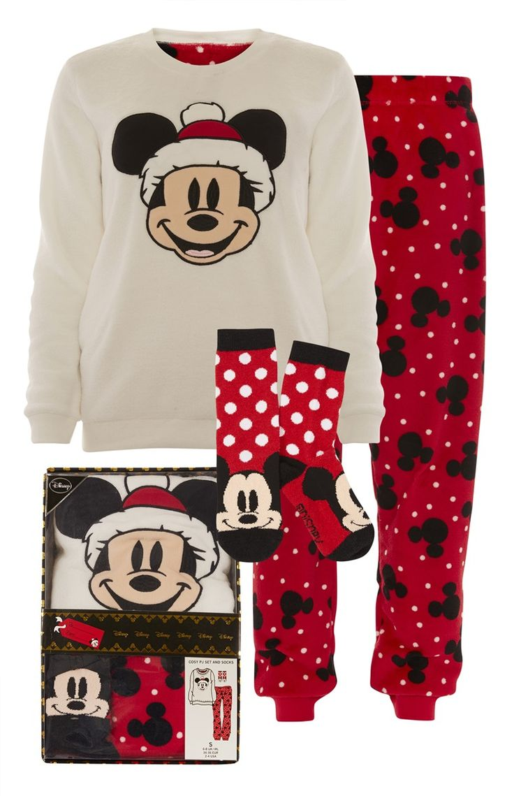 Primark - Mickey Christmas Gift Box PJ Set