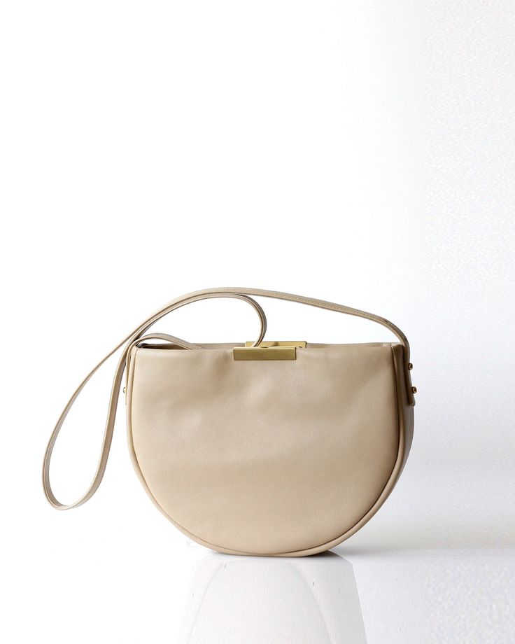 Meena Saddle Bag | Buff - Opelle bag SS17 - Opelle leather handbag handcrafted leather bag toronto Canada