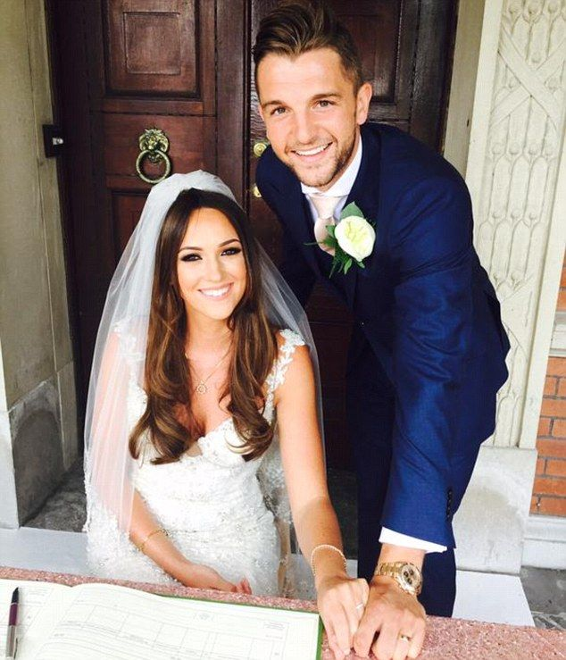 Southampton striker Jay Rodriguez married his long-term partner Simone Lee earlier this su...