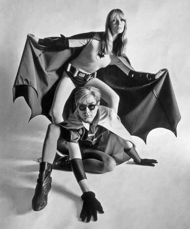 Just in time for Halloween! Andy and Nico in Batman and Robin outfits!