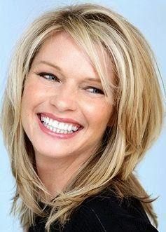 Afbeeldingsresultaat voor medium lang haar voor ovaal gezicht