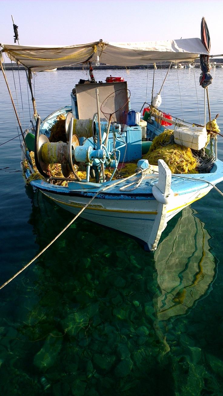 Fishing in Lesvos Island, Greece