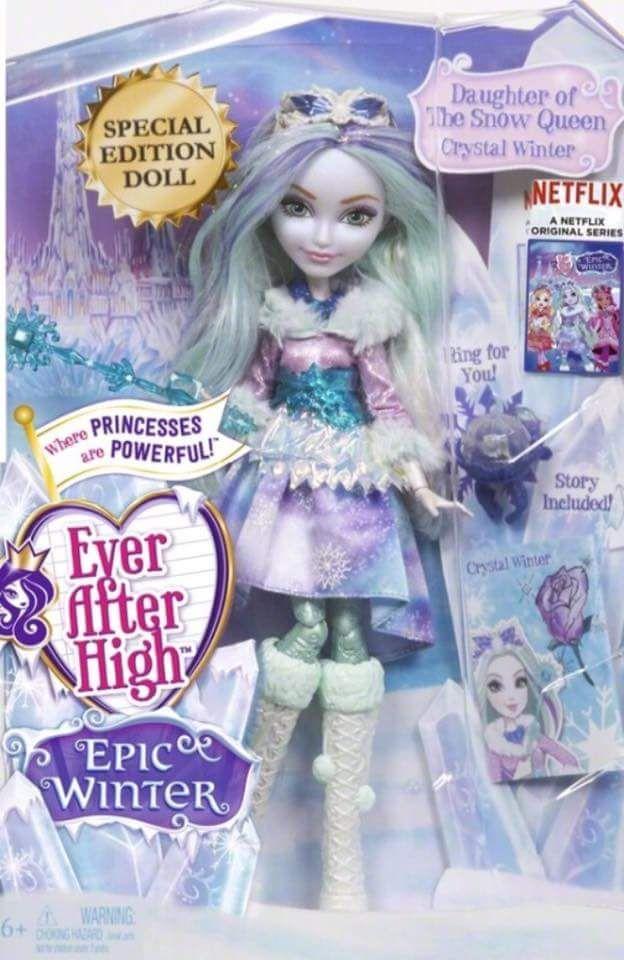 Ever After High Epic Winter, Crystal Winter doll. Credit: Ever After High Dolls on Facebook