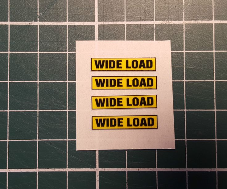 """1/50 scale """"WIDE LOAD"""" signs for Lorry/Truck Trailers (set of 4 self adhesive)   eBay"""