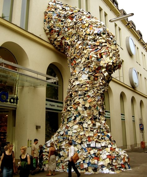 Take a look at these incredible sculptures by Alicia Martin, created with piles upon piles of books