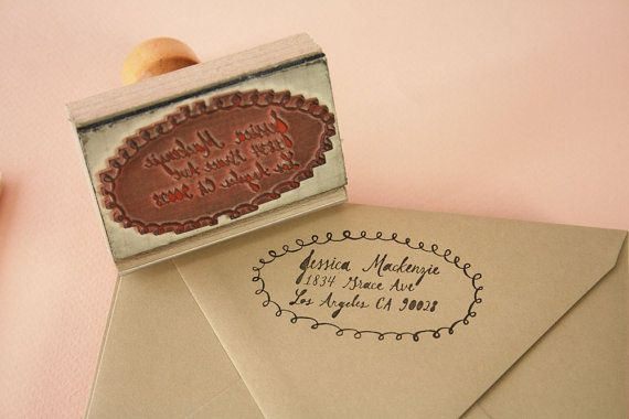 StampPaper Pastries, Stamps Gift, Stamps Sets, Gift Sets, Paper Things, Calligraphy Stamps, Calligraphy Gift, Address Stamps, Custom Calligraphy