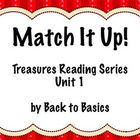 This download contains two different vocabulary activities based on the 3rd grade Treasures Reading series. Match It Up: Match it Up is a set of cards that can be printed and laminated to play a memory game with vocabulary words. Vocabulary Dominoes: These are the same vocabulary words, but in dominoes that can be laminated and used in several different ways. Created by Back to Basics on TPT. $