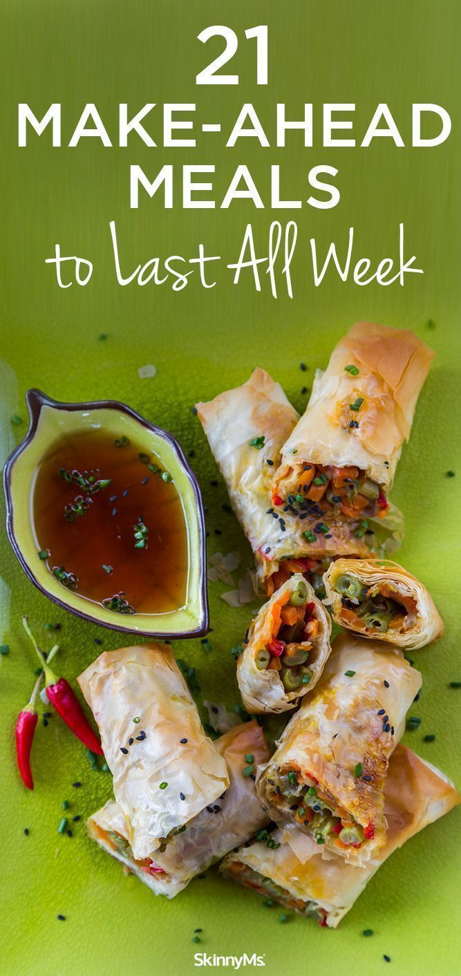 21 Make-Ahead Meals to Last All Week - easily planned meals make it convenient and fun for your family to enjoy healthy meals made with fresh, wholesome ingredients. #healthymeals #family #makeaheadmeals