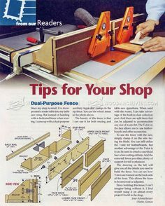 Dual-Purpose Router Table Fence Plans - Router Tips, Jigs and Fixtures    WoodArchivist.com