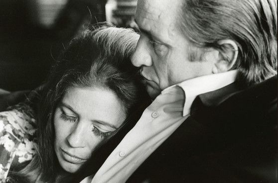 Johnny Cash and June Carter. Love this picture.