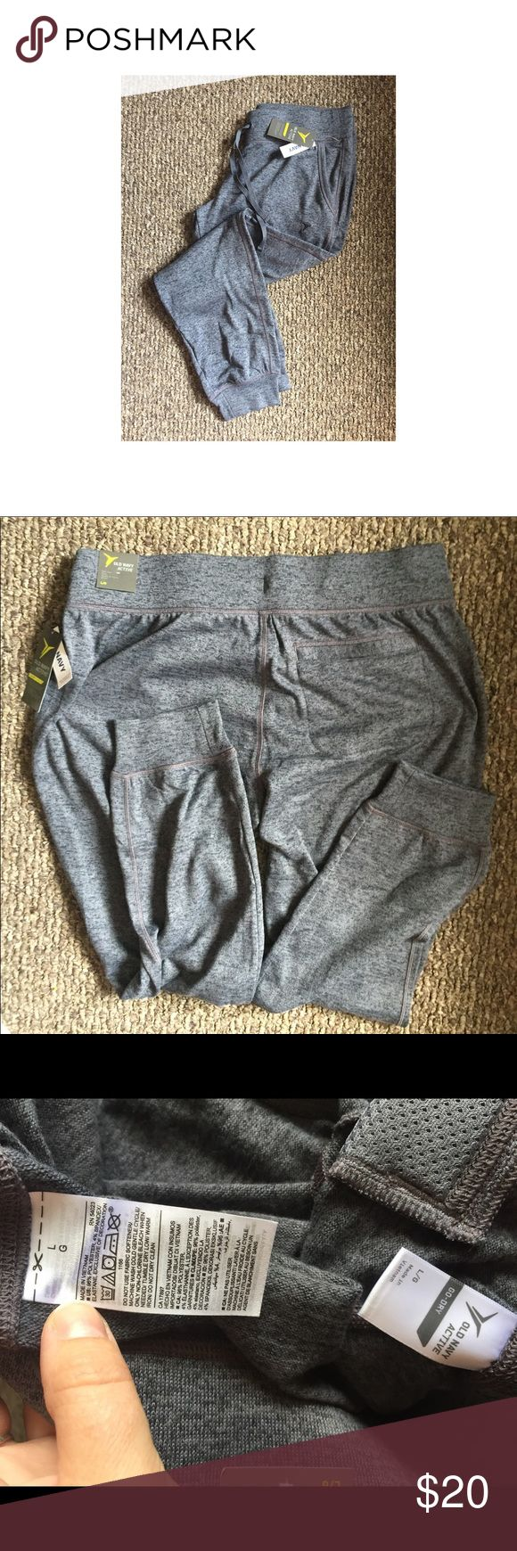 NWT OLD NAVY ACTIVE WOMENS JOGGERS NWT WOMENS OLD NAVY ACTIVE JOGGERS SIZE L. charcoal grey color. Super soft! Two front pockets, one back pocket. Mid rise. Old Navy Pants Track Pants & Joggers