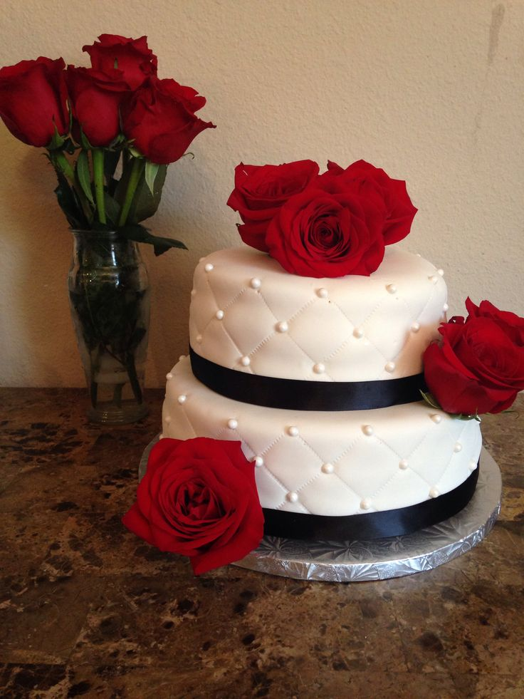 Wedding Cake Pictures Red And White