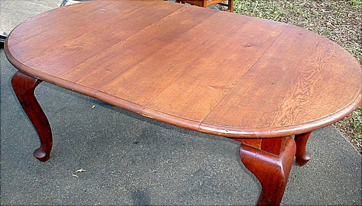 1800 S French Country Solid Oak Table With Thick Cabriole Legs Heavy And Sturdy 275 00 Solid Oak Table Oak Table Coffee Table