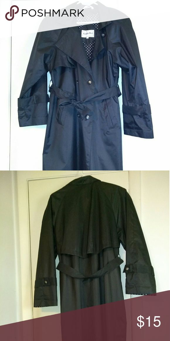 Women's Rain coat size 10 Women's black rain coat, runs big worn a few times only Jackets & Coats Trench Coats