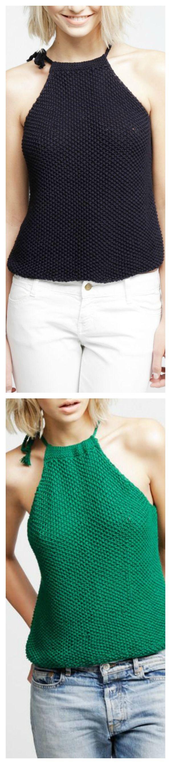 Fashion Knit Halter Top