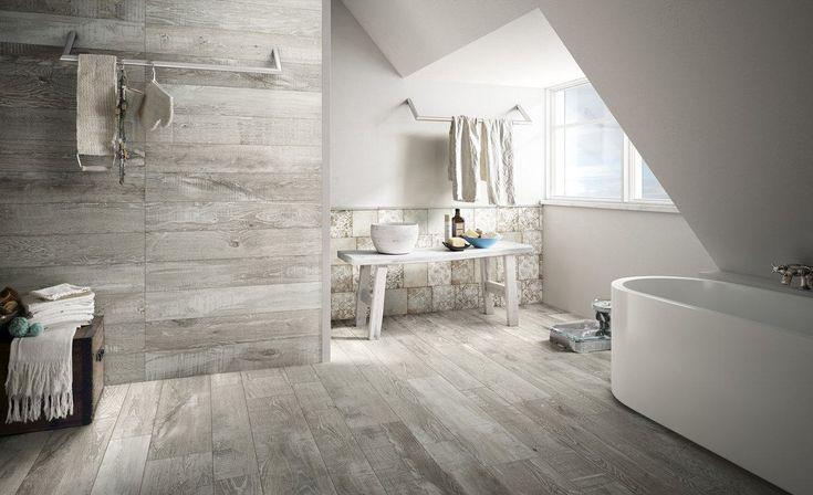 Carrelage Sol Interieur Gres Cerame Madeira Grigio 90x22 5 Cm Design Piastrelle Design Del Bagno