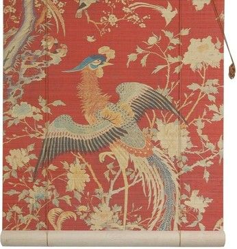 Red Phoenix Bamboo Blinds - (48 in. x 72 in.) asian-roller-blinds